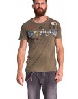 Desigual-Madras-Patch-T-shirt-Empire-Imprim-Col-ras-du-cou-Manches-courtes-Homme-0
