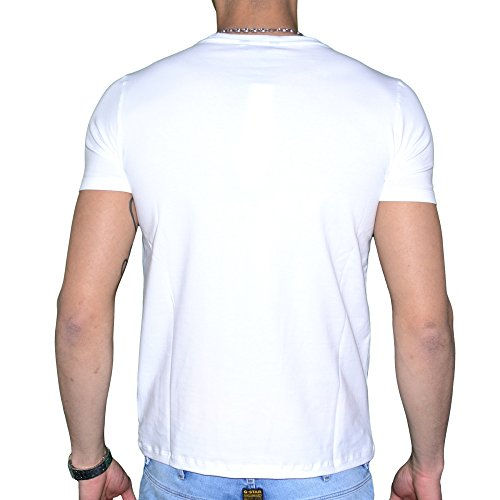 Guess-By-Marciano-T-Shirt-Manches-Courtes-Homme-22m608-Rainbow-Blanc-0-0