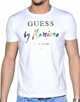Guess-By-Marciano-T-Shirt-Manches-Courtes-Homme-22m608-Rainbow-Blanc-0