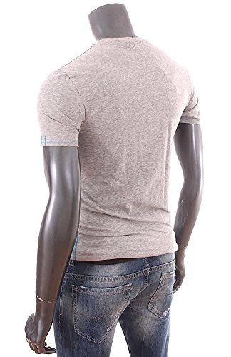 Guess-T-Shirt-homme-Slim-Fit-stretch-gris-col-rond-UB7U29-0-1
