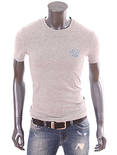 Guess-T-Shirt-homme-Slim-Fit-stretch-gris-col-rond-UB7U29-0