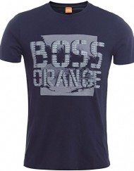 Hugo-Boss-Orange-T-Shirt-de-Tallinn-Bleu-Fonc-0