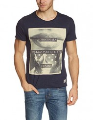Jack-Jones-Bed-Ss-Crew-Neck-Ttt-T-shirt-uni-Col-ras-du-cou-Manches-courtes-Homme-0