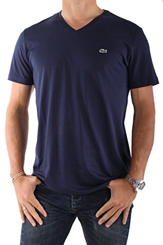 Lacoste-HOMME-Tee-Shirts-Manches-Courtes-TH6604-BLEU-MARINE-0