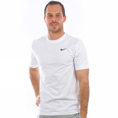 nike tee shirt manche courte homme ad basic crew tee coton 100 blanc pas cher. Black Bedroom Furniture Sets. Home Design Ideas