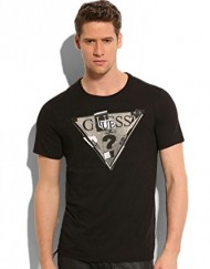 T-shirt-Guess-Triangle-Black-0