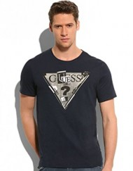 T-shirt-Guess-Triangle-Dark-Blue-0