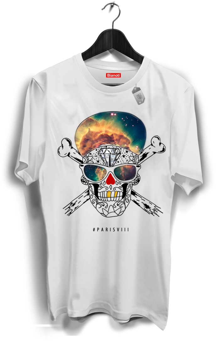 tee-shirt-tete-de-mort-collector-parisviii-limited